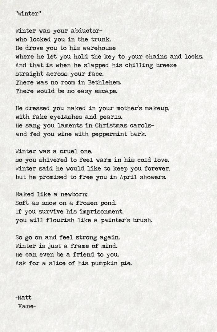 Winter - a poem by Matt Kane