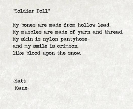 Soldier Doll - a poem by Matt Kane