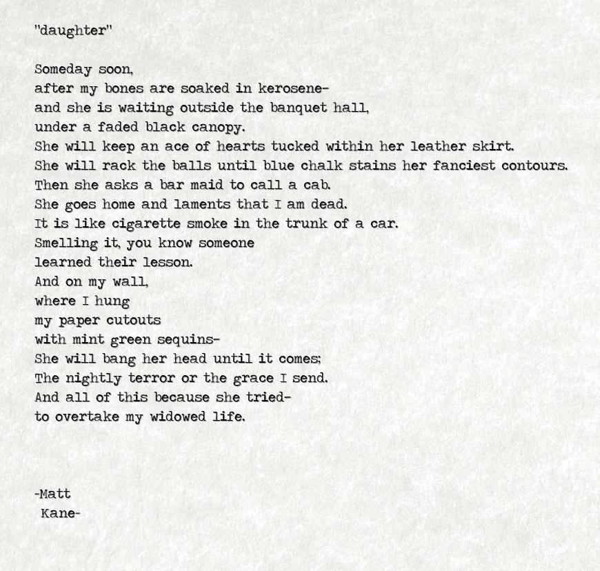 daughter - a poem by Matt Kane