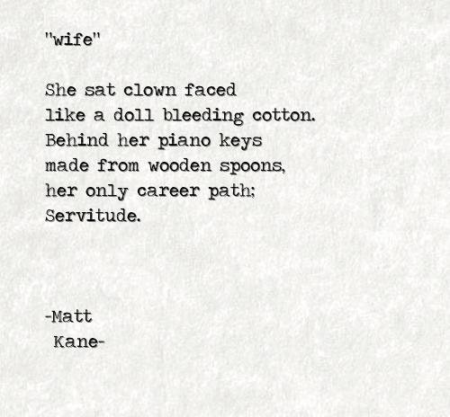 wife - a poem by Matt Kane