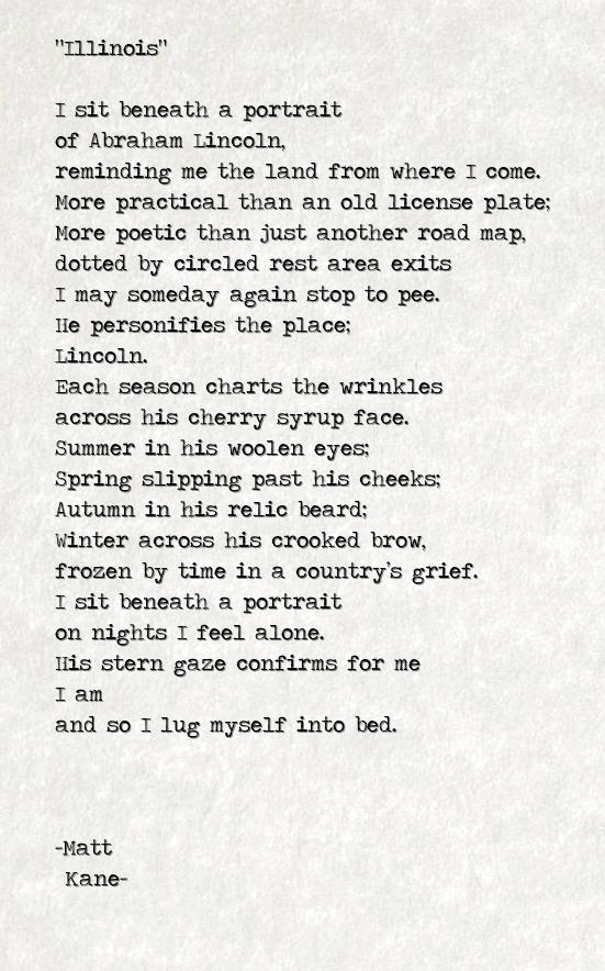 Illinois - a poem by Matt Kane