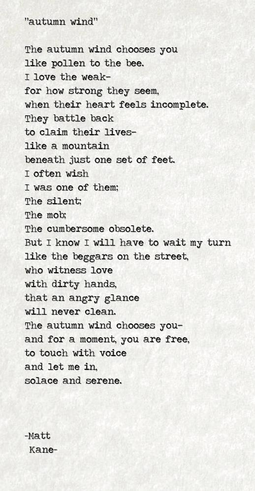 autumn wind - a poem by Matt Kane