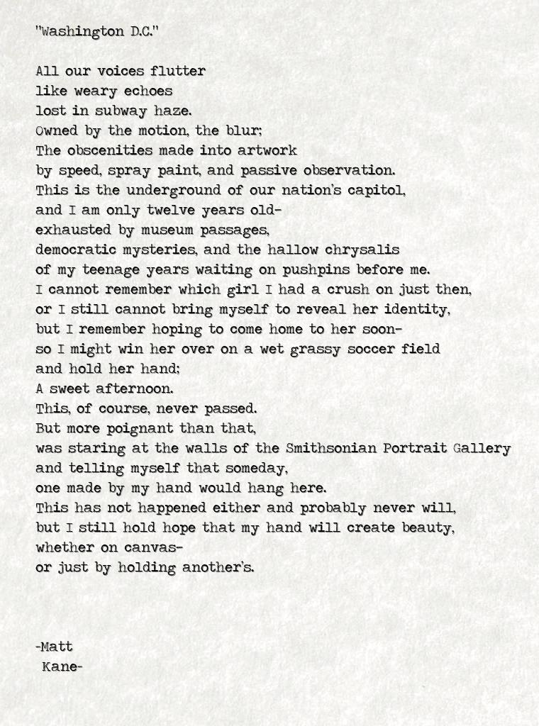 Washington D.C. - a poem by Matt Kane