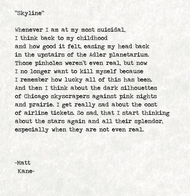 Skyline - a poem by Matt Kane