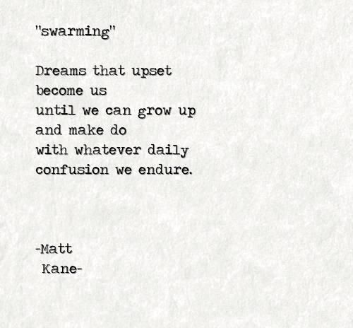 swarming - a poem by Matt Kane