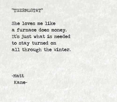 THERMOSTAT - a poem by Matt Kane