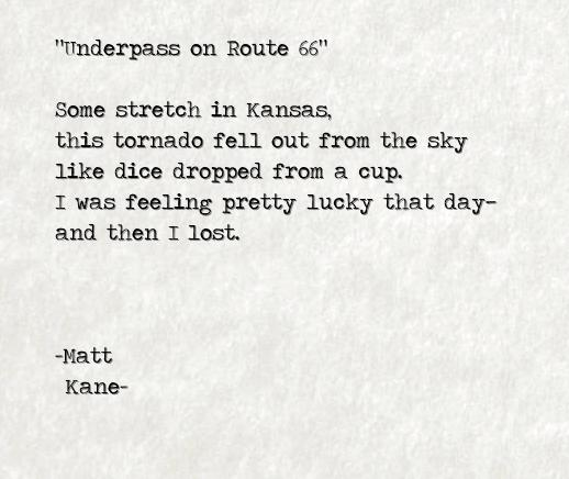 Underpass on Route 66 - a poem by Matt Kane