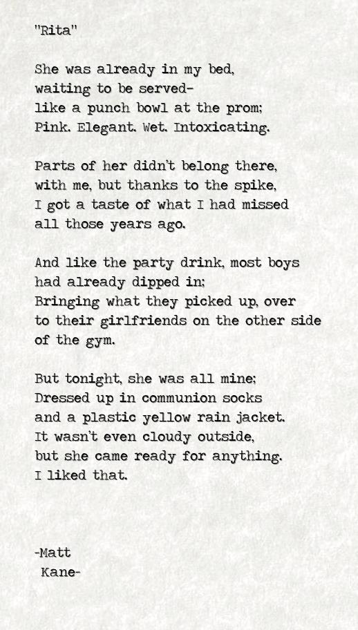 Rita - a poem by Matt Kane