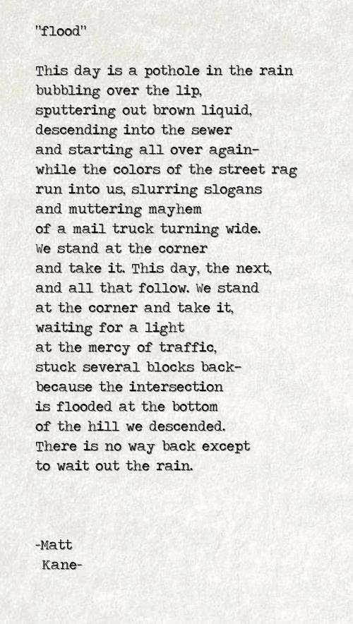 flood - a poem by Matt Kane