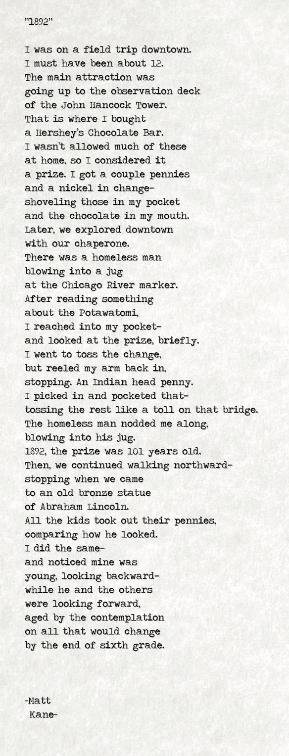 1892 - a poem by Matt Kane