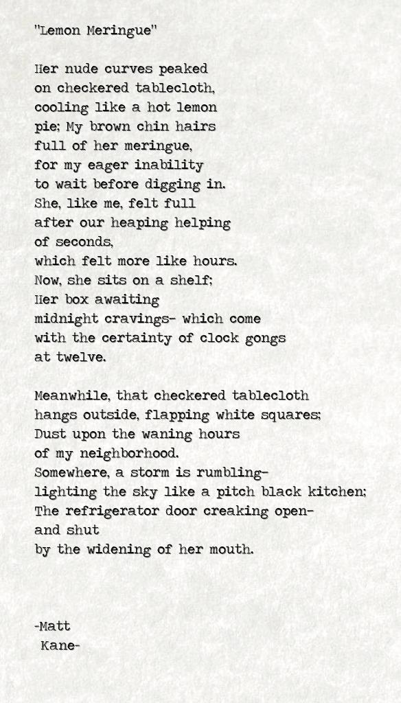 Lemon Meringue - a poem by Matt Kane