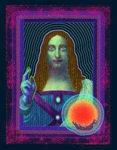 After Salvator Mundi by Leonardo DaVinci