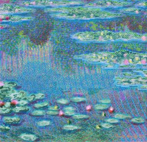 Water Lilies after Claude Monet Dimensional Painting