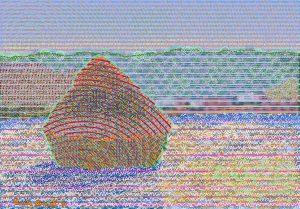 Haystacks (Thaw) after Claude Monet