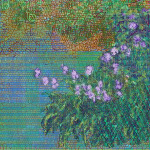 Irises after Claude Monet