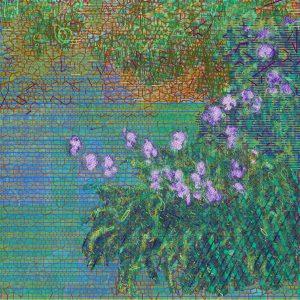 Irises after Claude Monet