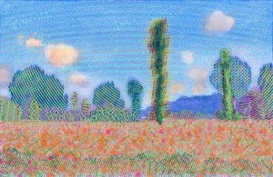 Poppy Field (Giverny) after Claude Monet