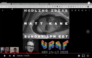 hodling ideas matt kane - VRAF may 14 - 17, 2020